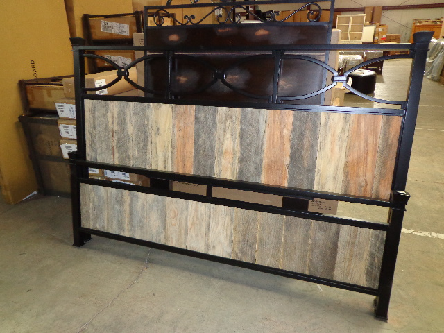 American Drew King Uphostered Metal Bed $195